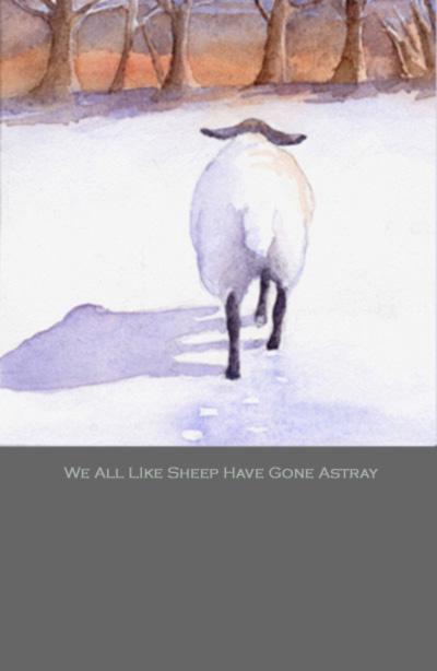 all we like sheep illustration