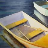 watercolor of rowboats