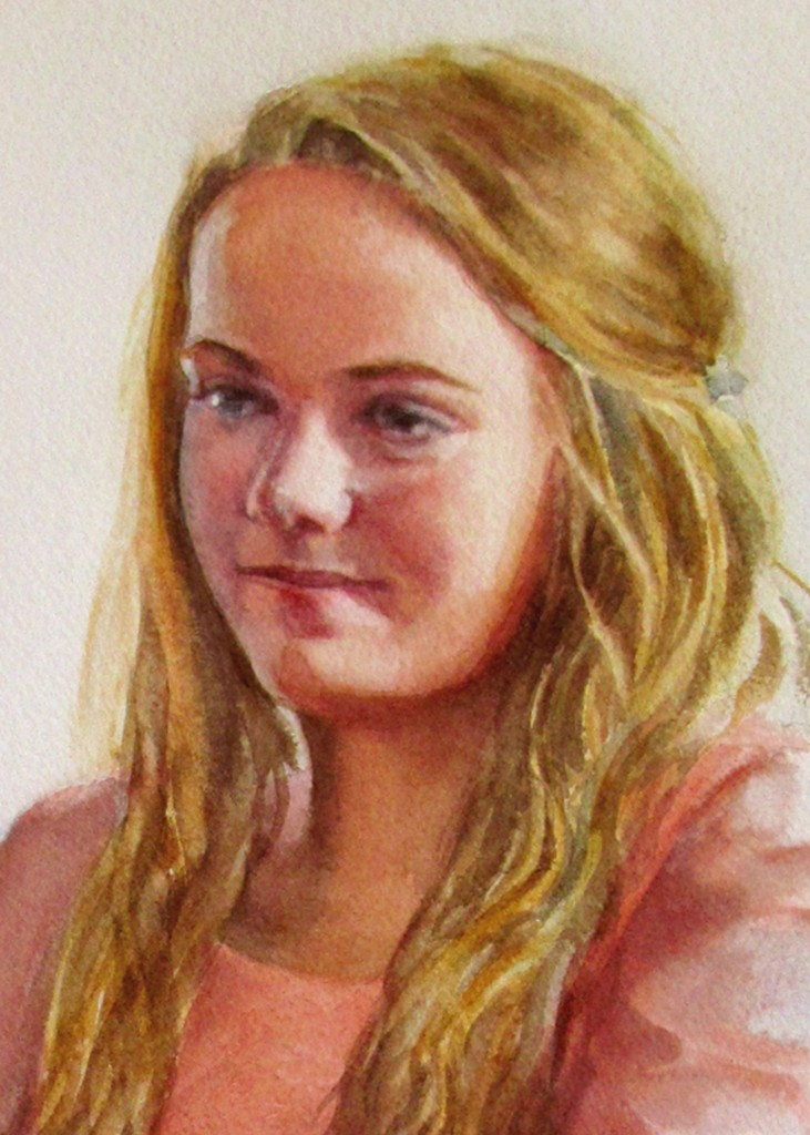 Close-up of Commissioned Portrait