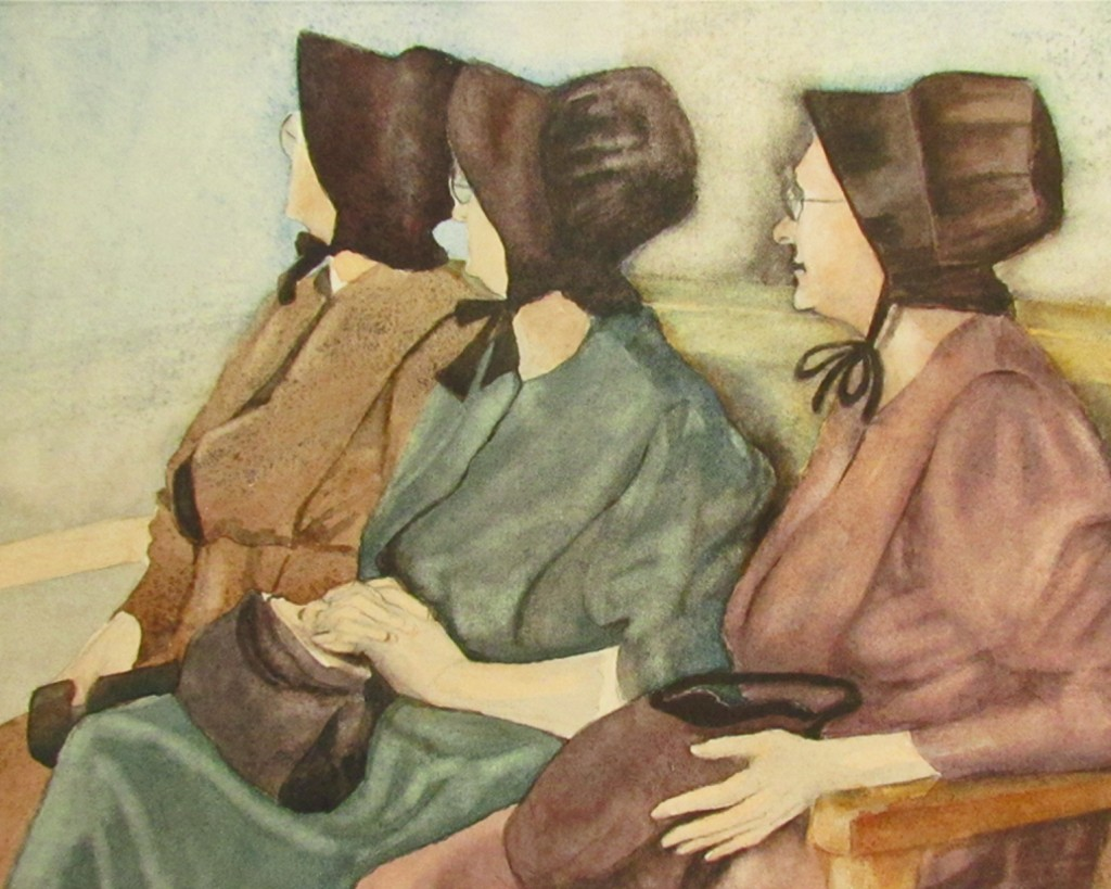 Three Mennonite Women closeup