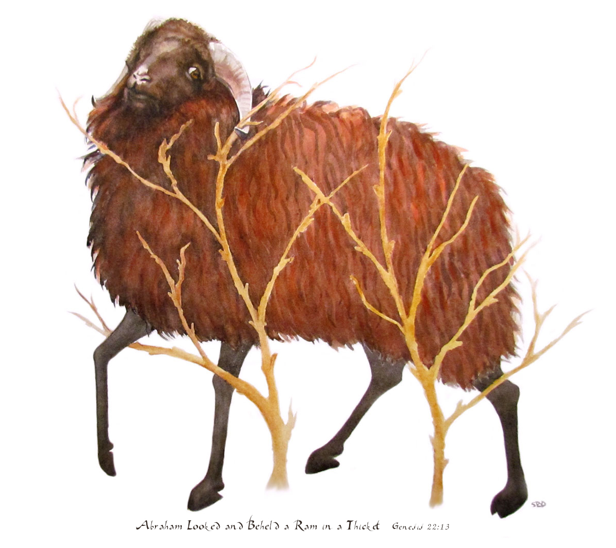 This print of The Ram in the Thicket can be found in my shop
