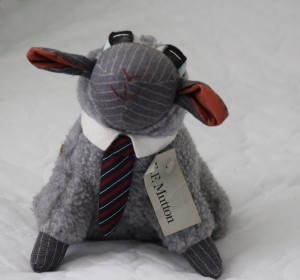 E. F. Mutton a plush stuffed animal